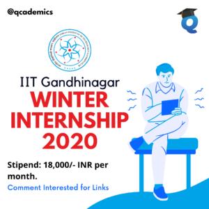 Winter Internship 2020:IIT Gandhinagar