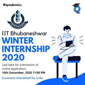 Winter Internship 2020:IIT Bhubaneshwar