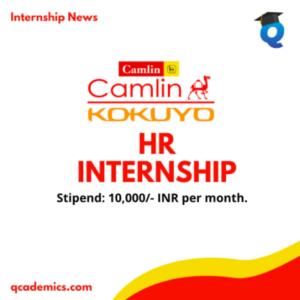 Kokuyo Camlin Internship Opportunity: Best HR Internship (Internship News)- 12.12.2020