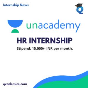 Unacademy Internship Opportunity: Best HR Internship (Internship News)- Last Date 25.12.2020
