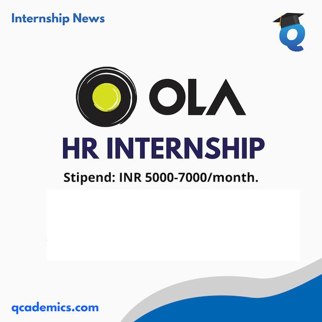 Ola Internship 2021: Big HR Internship Opportunity (Internship News)- 22.12.2020