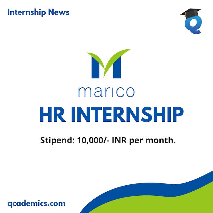 Marico Internship Opportunity: Best HR Internship (Internship News)- Last Date 23.12.2020