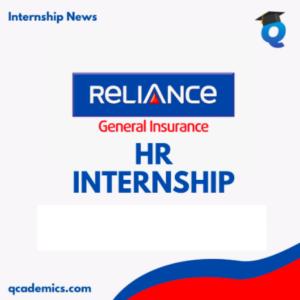 Reliance General Insurance Internship Opportunity: Best HR Internship (Internship News)- 18.12.2020