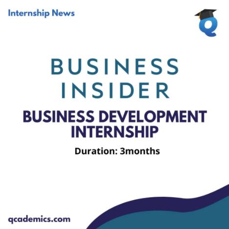 Business Insider India Internship Opportunity: Best Business Development Internship (Internship News): 8/12/2020