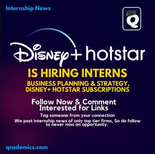 Read more about the article Hotstar Internship: Best Internship Opportunity (Internship News)- 30.01.2021