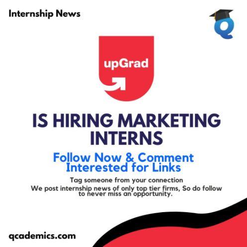 UpGrad Internship: Best Marketing Internship (Internship News)- 23.01.2021