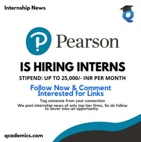 Pearson Internship: Great Opportunity (Product Management Internship News)