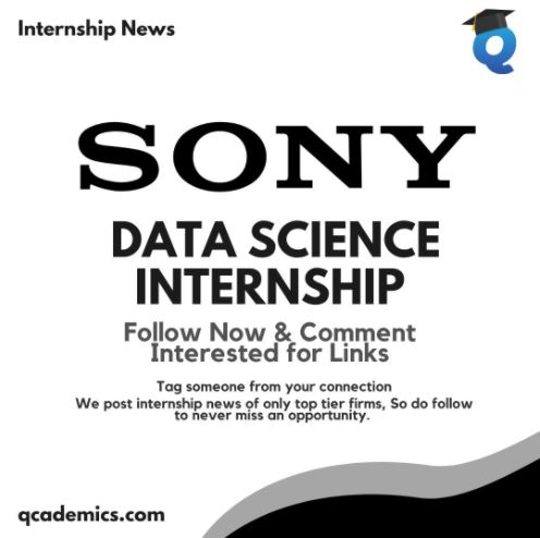Read more about the article Sony India Pvt Ltd: Best Data Science Internship India (Internship News)
