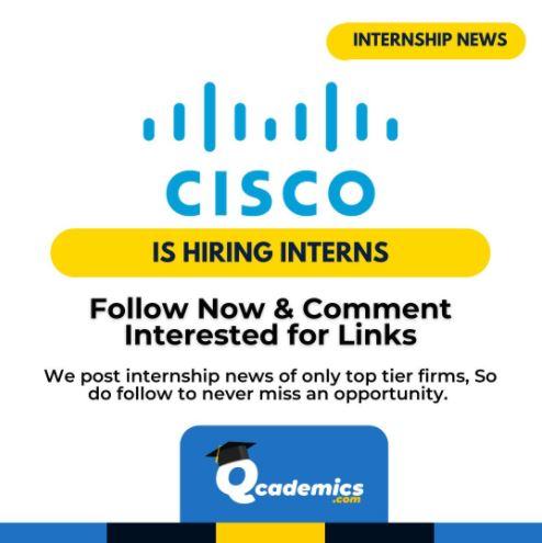 Cisco Internship: Best Field Sales Engineer Internship News