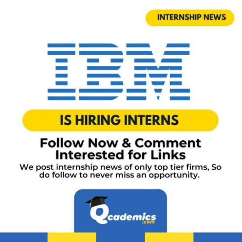 Internship with IBM: Best Conversational AI Engineer Internship News