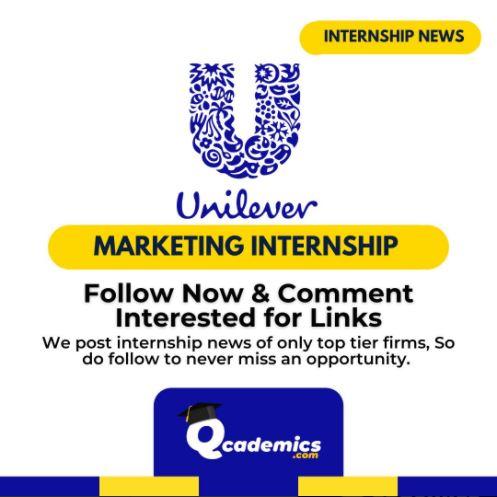 Internship at Hindustan Unilever: Marketing Internship News