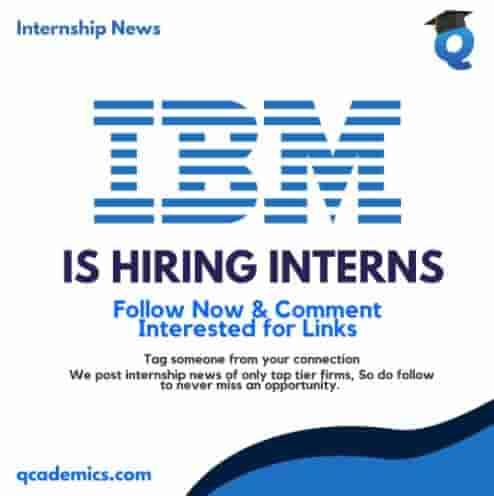 Internship with IBM: Amazing Internship Opportunity (Internship News)- 09.03.2021