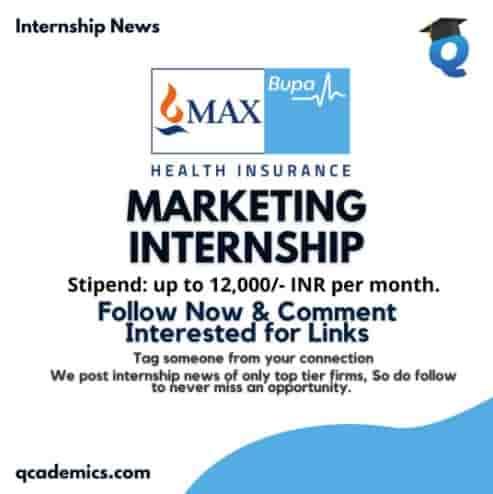 Read more about the article Max Bupa Health Insurance Careers (Internship): Great Marketing Internship (Internship News)
