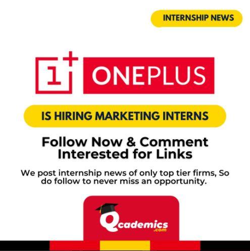 Read more about the article Internship at OnePlus: Best Marketing Internship News