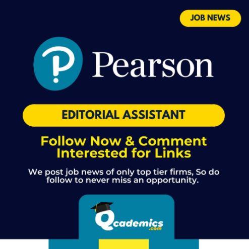 Job in Pearson: Editorial Assistant Job News