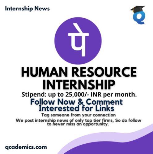 PhonePe Internship News: Best Human Resource Internship