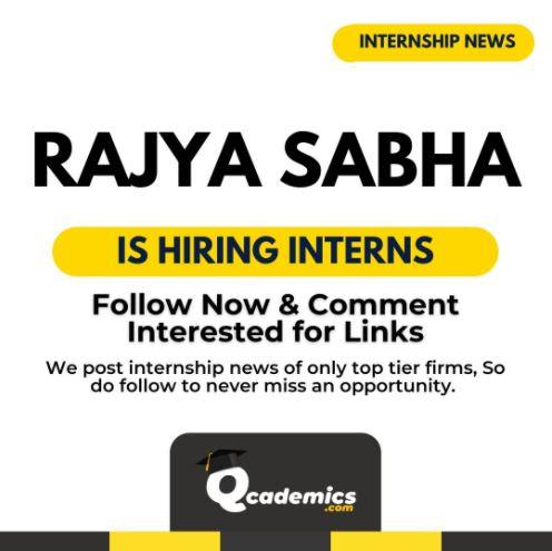 Read more about the article Rajya Sabha Internship: Great Internship Opportunity News