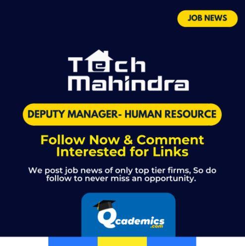 Job in Tech Mahindra: Human Resource Recruiter Job News