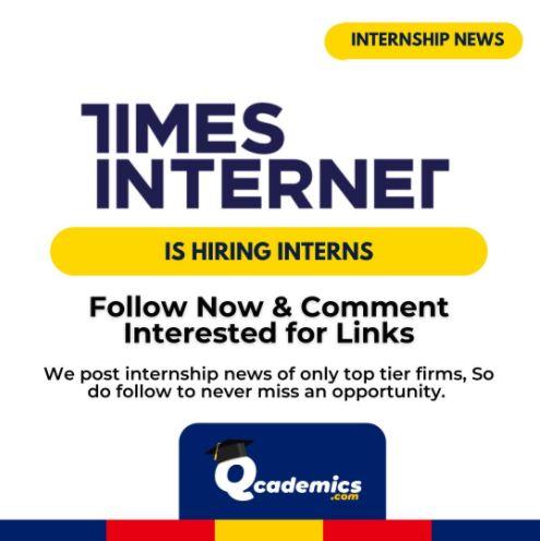 Internship at Times Internet: Great Sales & Client Servicing Internship News