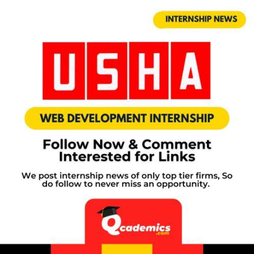 Read more about the article Usha Internship: Best Web Development Internship News