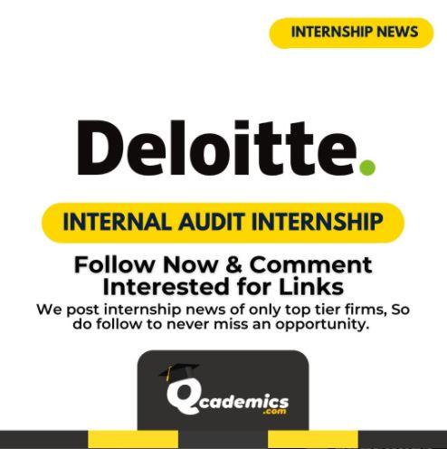 Deloitte Internship: Best A&IC Internal Audit Internship