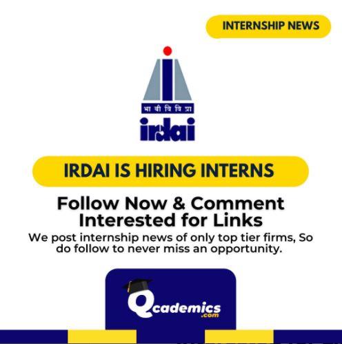 Read more about the article Internship at IRDAI: Summer Internship News