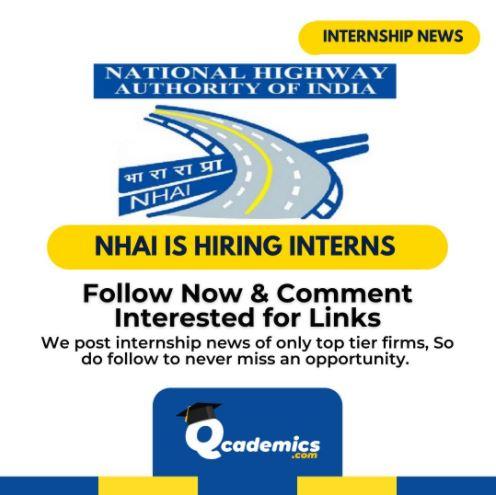 NHAI Internship: Great Civil Engineering Internship
