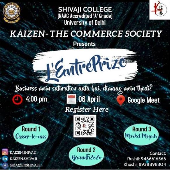 L'EntrePrize: Kaizen, The Commerce Society, Shivaji College