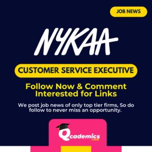 Job at Nykaa: Customer Service Executive