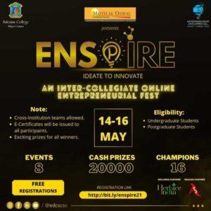 ENSPIRE- A Global Level Inter-Collegiate Entrepreneurial Fest