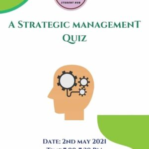A Strategic Management Quiz by StudentHub Org