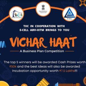 Vichar Haat: TIIC and E-Cell ABV-IIITM Gwalior
