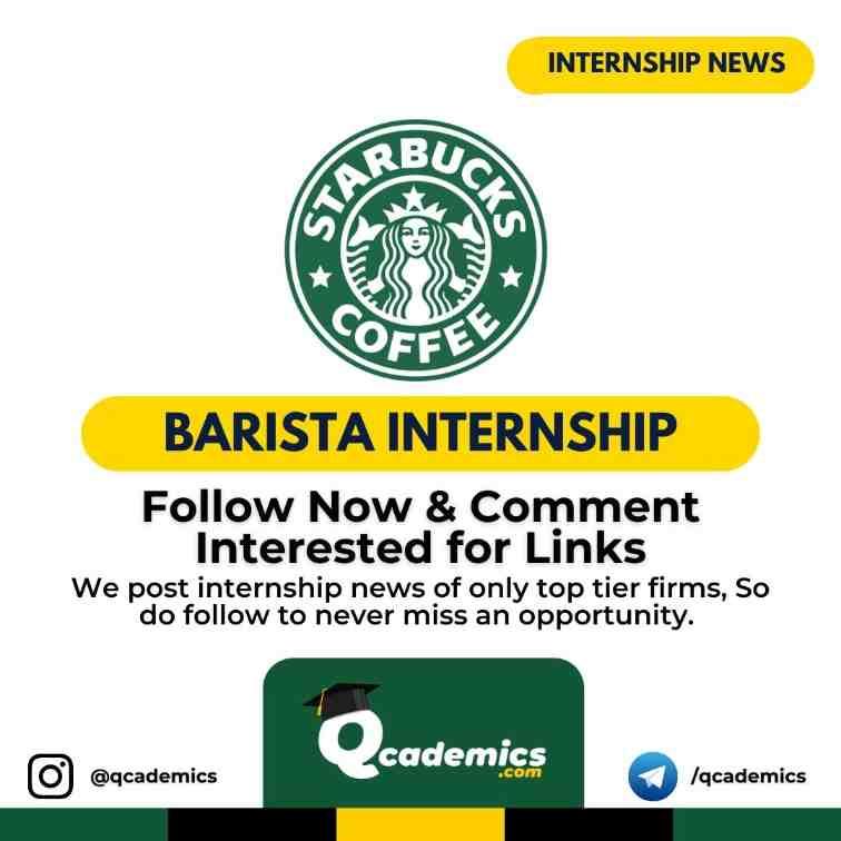 Internship at Starbucks: Barista Internship