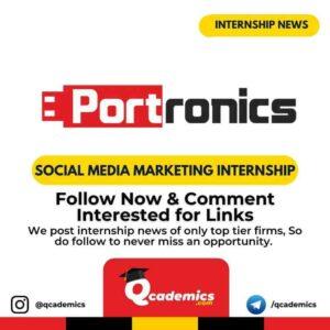 Internship with Portronics: Social Media Marketing