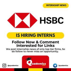HSBC Internship News: CA Internship