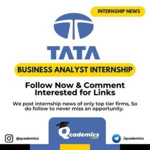 Internship in Tata: Business Analytics