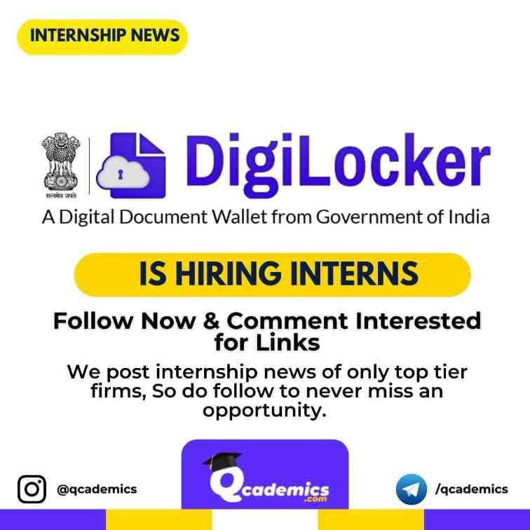 Internship in DigiLocker: Mobile Developer (IOS)