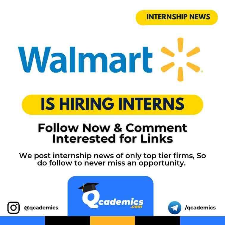 Walmart Internship News: Product Designer