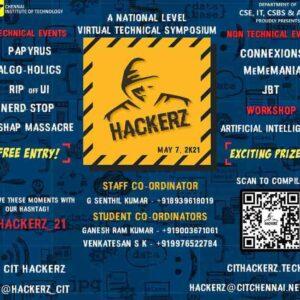 HACKERZ 2021: Chennai Institute of Technology