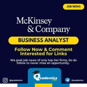 Job in McKinsey: Business Analyst Job