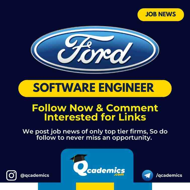 Read more about the article Jobs at Ford India: Software Engineer