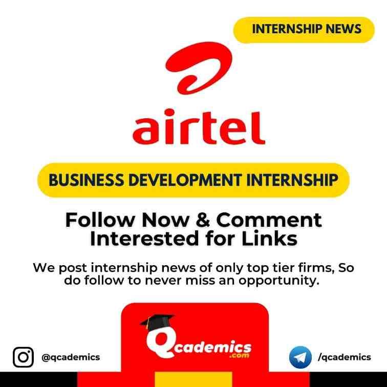 Internship in Airtel: Business Development