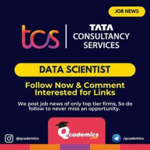 Job at TCS: Data Scientist Job News