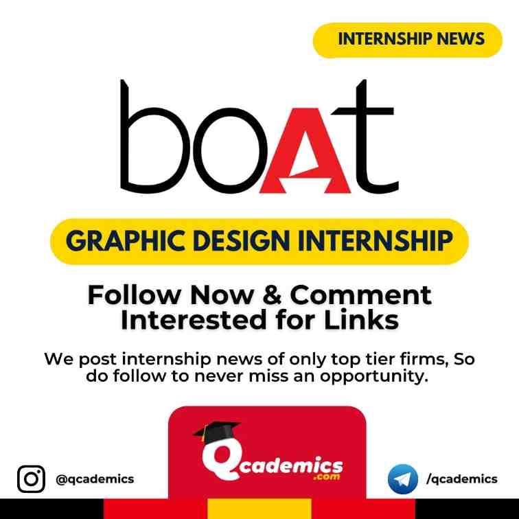 BoAt Internship News: Graphic Design