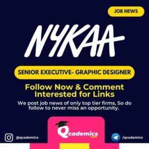Job at Nykaa: Senior Executive Graphic Designer