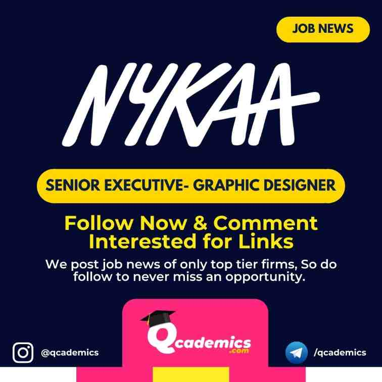 Read more about the article Job at Nykaa: Senior Executive Graphic Designer