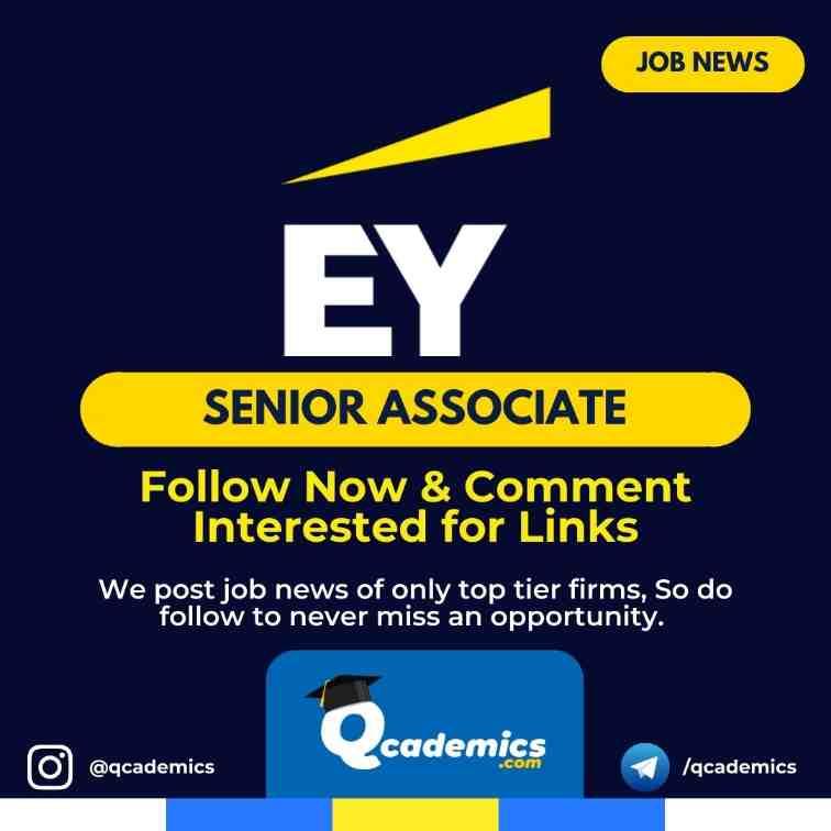 Job at EY: Senior Associate Job News