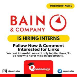 Bain and Company Internship: Intern