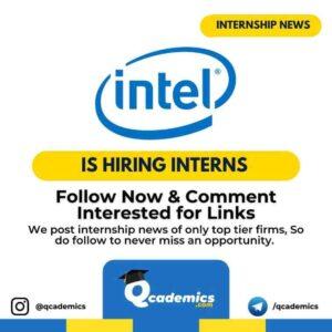 Intel Internship: Graduate Intern