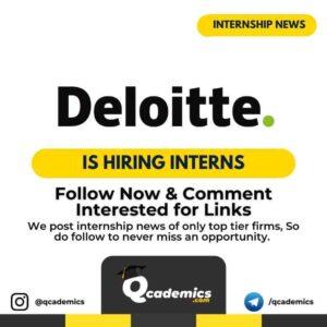Internship at Deloitte: Internal Audit Internship